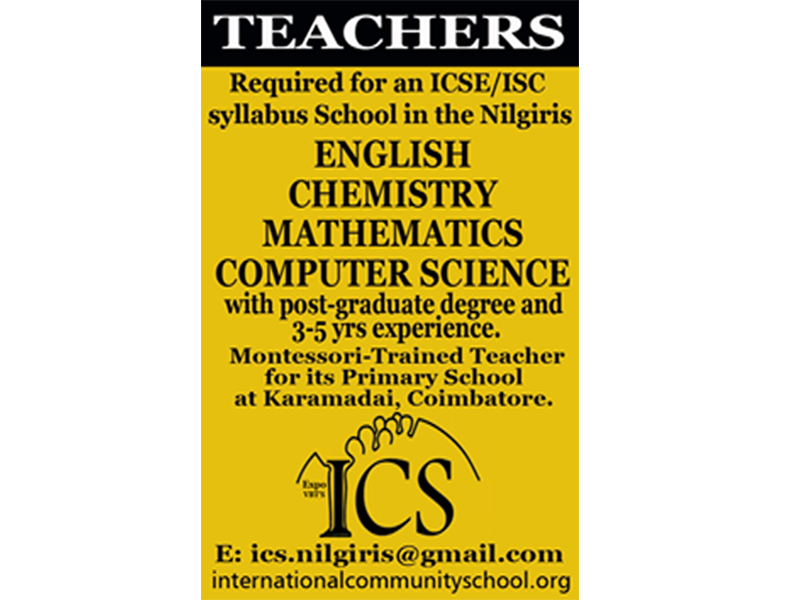 TEACHERS REQUIRED